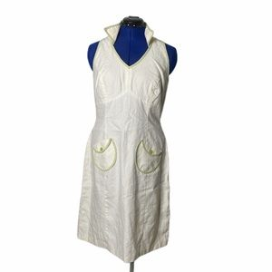 SANGRIA OFF WHITE LINEN DRESS SIZE 10